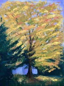 "Autumn Yellow, 24x18x1.5"", Oil on Canvas, $550"