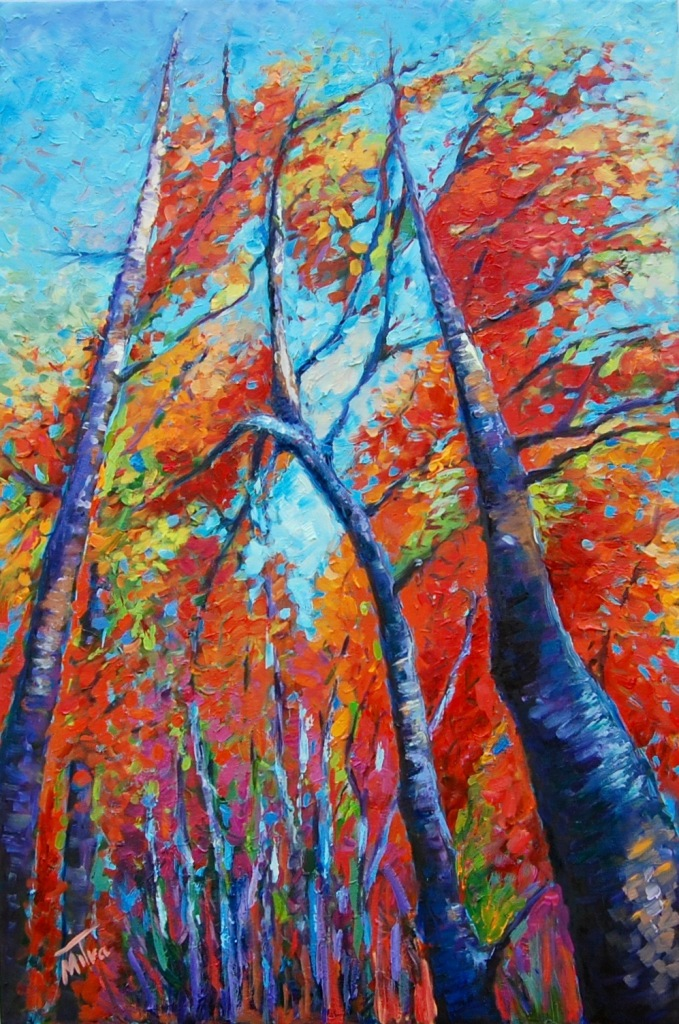 Fall - Four Season Collection, 24x36x1.5 inches, Oil on Gallery Wrapped Canvas,