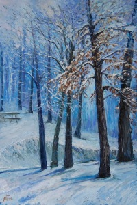 Winter - Four Season Collection, 24x36x1.5 inches, Oil on Gallery Wrapped Canvas,