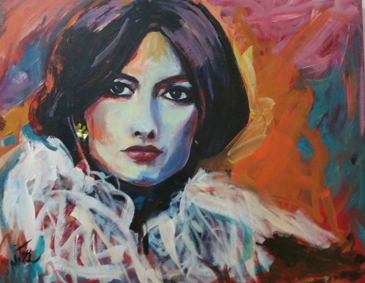 "Googoosh, 19x28x.75"", Acrylic on Canvas"