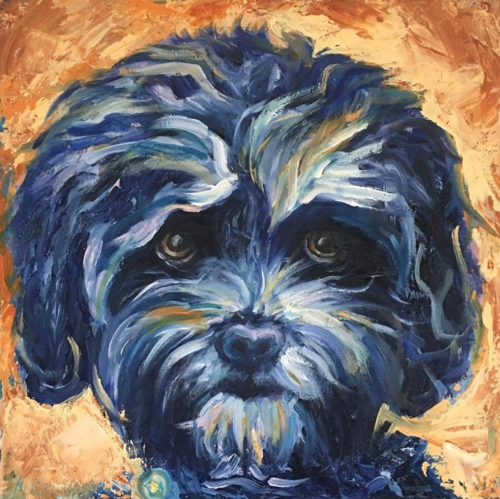 "Lucy, 14x14x1.5"", Oil on Canvas"