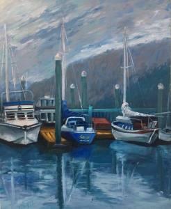 """Marina, 22x18x1.5"""" Oil on Canvas"""