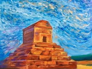 "Pasargadae, 18x24x.75"", Oil on Canvas"