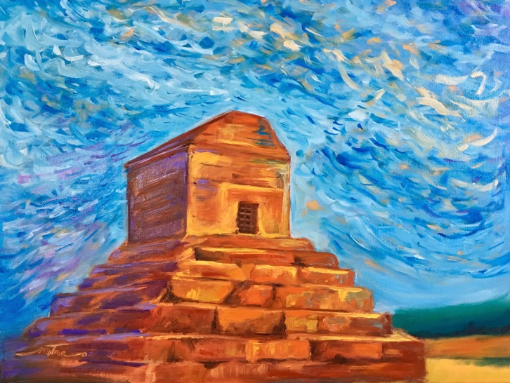 "Pasargadae, 18x24x.75"", Oil on Canvas, $650 (FREE SHIPPING & HANDLING WITHIN THE U.S.)"