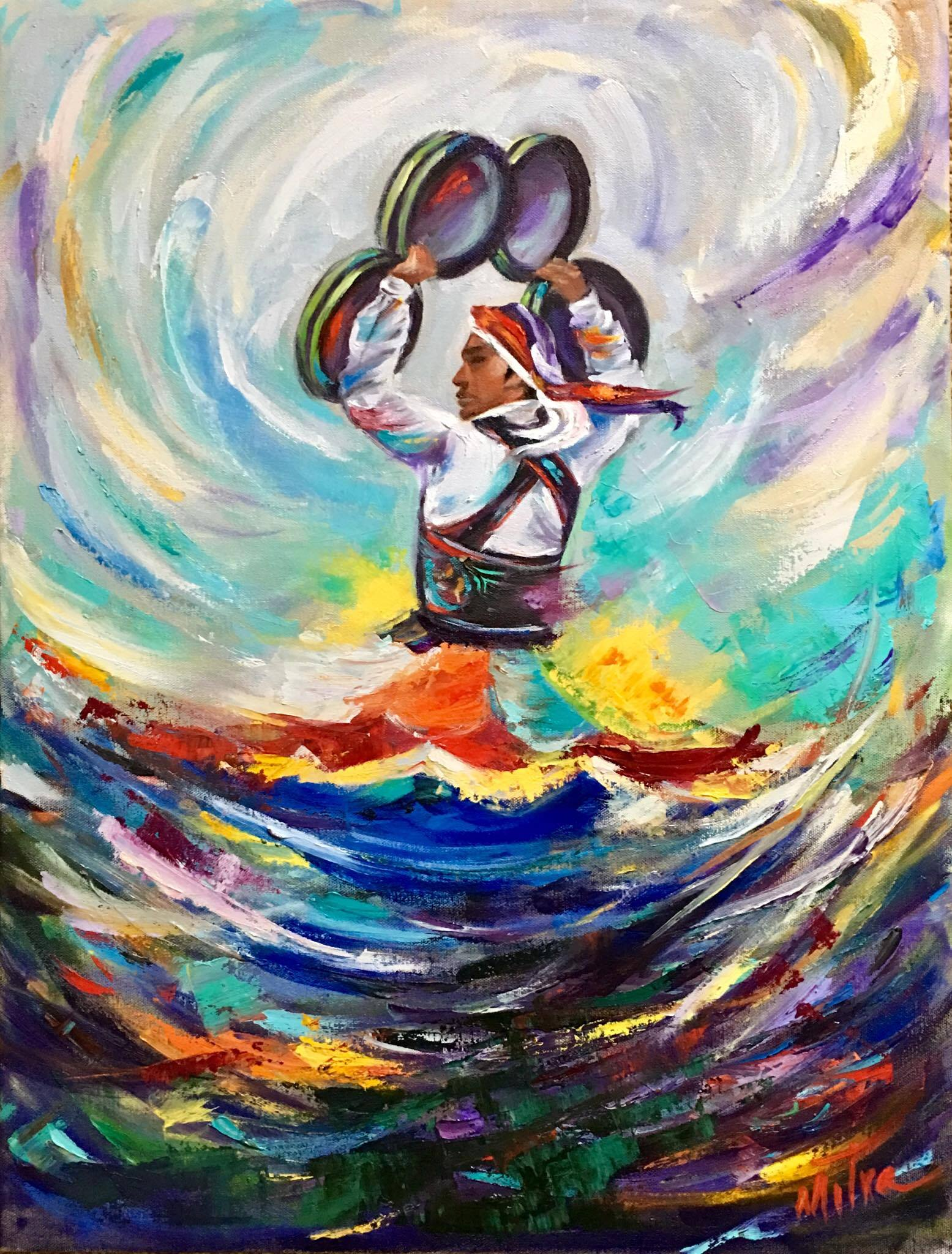 Dervish Dance, 18x24x.75, oil on Canvas, $500 (FREE SHIPPING & HANDLING WITHIN THE U.S.)